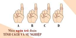 Xem đường chỉ tay ở ngón trỏ tay phải để đoán được tính cách của một người.