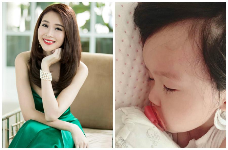Đăng tấm hình con gái bị ốm, thiếp đi vì mệt, Hoa hậu Đăng Thu Thảo chạm tới trái tim CĐM vì điều này