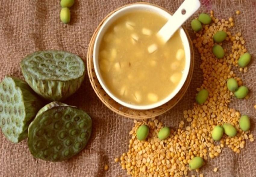 Chè đậu xanh hạt sen bổ dưỡng cho ngày hè