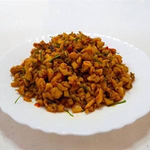 Nấm đùi gà xào thịt cà ri