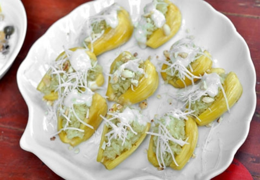 Xôi mít cốt dừa thơm ngon hấp dẫn