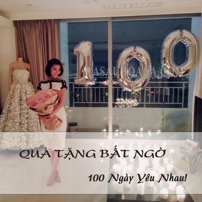 Quà tặng bất ngờ mừng 100 ngày yêu em
